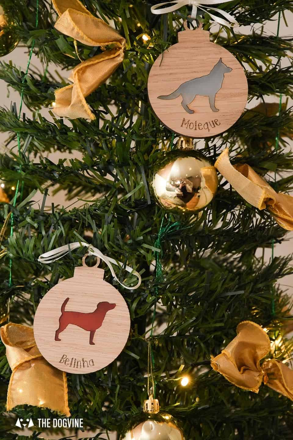 10 Ways For Your Dog's Christmas To Be Fabulous in London - Personalised Dog Christmas Tree Decorations