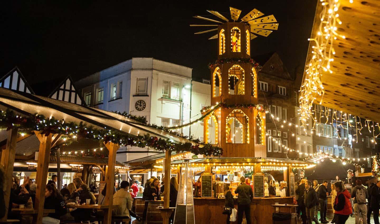 Dog-friendly Christmas Markets in London - Kingston Market