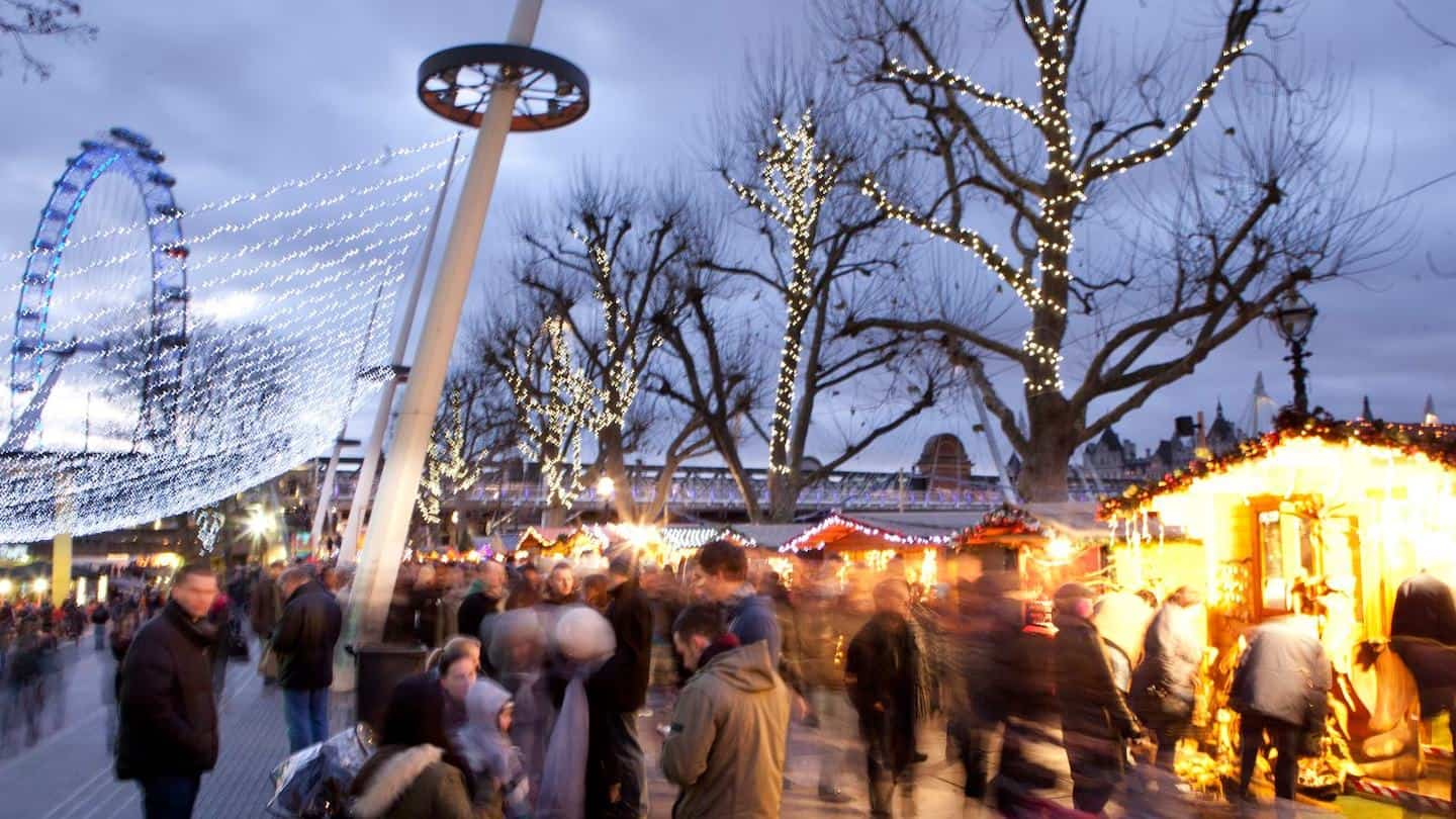 Dog-friendly Christmas Markets in London - Southbank Winter Market