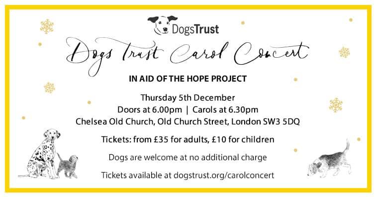 Dogs Trust Christmas Carol Concert 2019