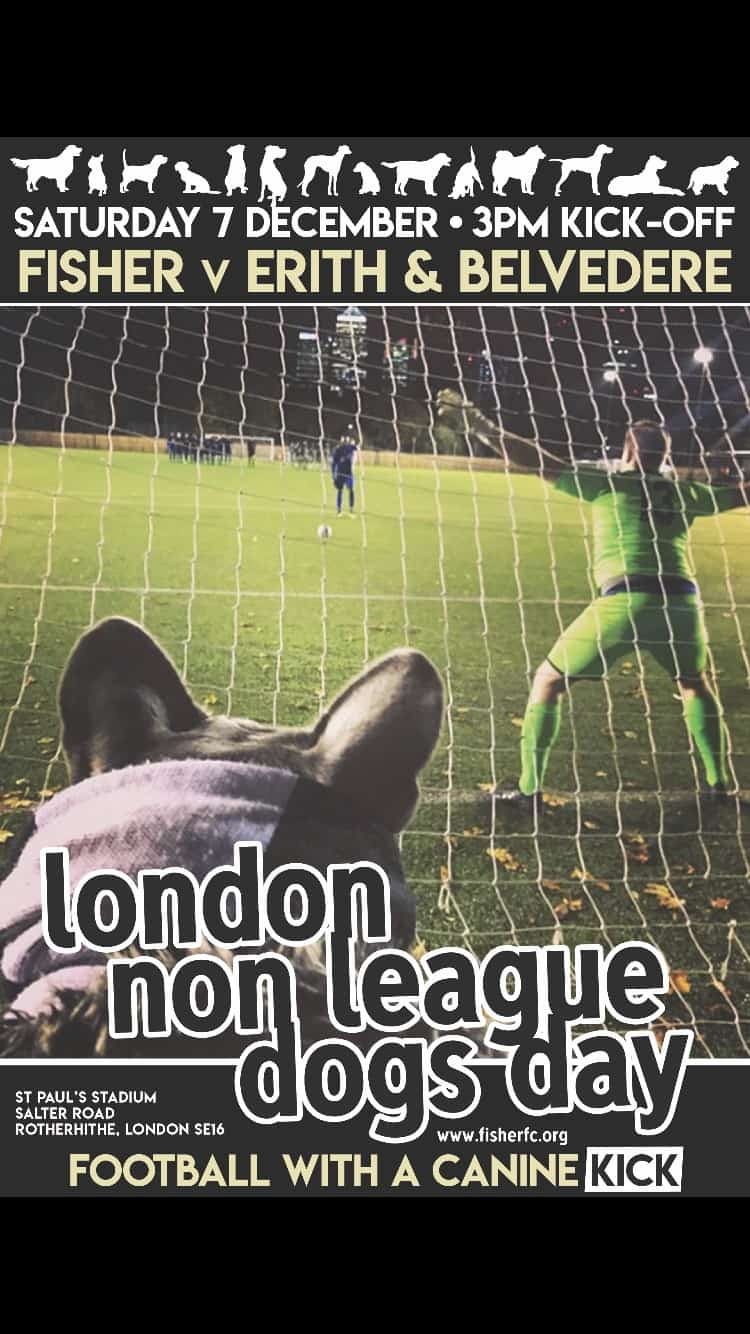 London Non League Dogs Day Dog-friendly Football Flyer