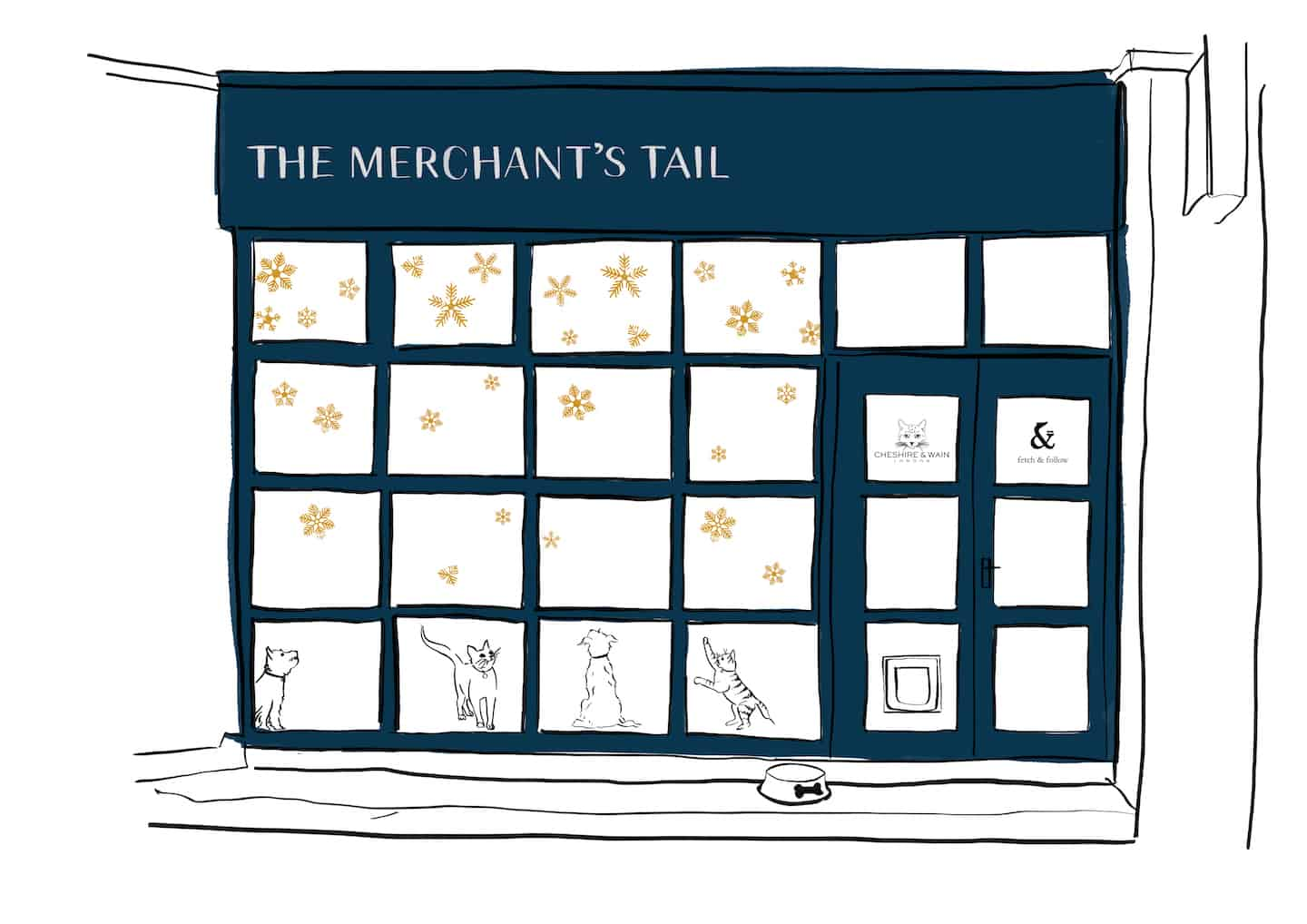 The Merchant's Tail Christmas Pop-up for Dogs & Cats