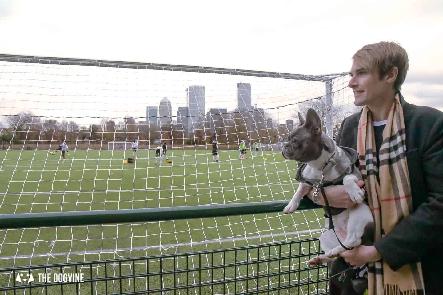 Dog-friendly Football Teams in London - On the sidelines at Fisher DC