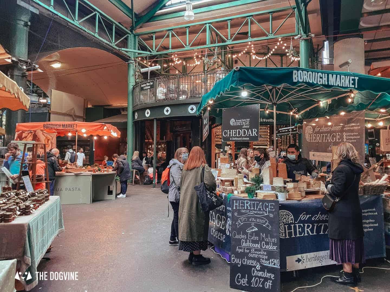 Dog-friendly Borough Market Food Stalls