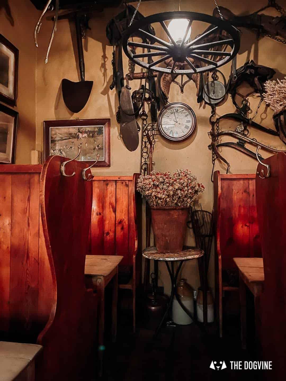 Charming decor at Maggie Jones's Restaurant London